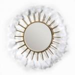 Specchio 103X4X103 Vetro Metallo Dorato Pimue Bianco