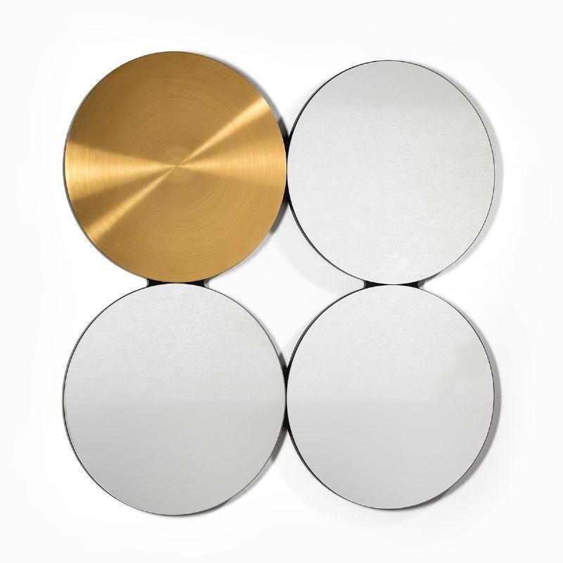 Spiegel 100X3X100 Glas/Metall Golden