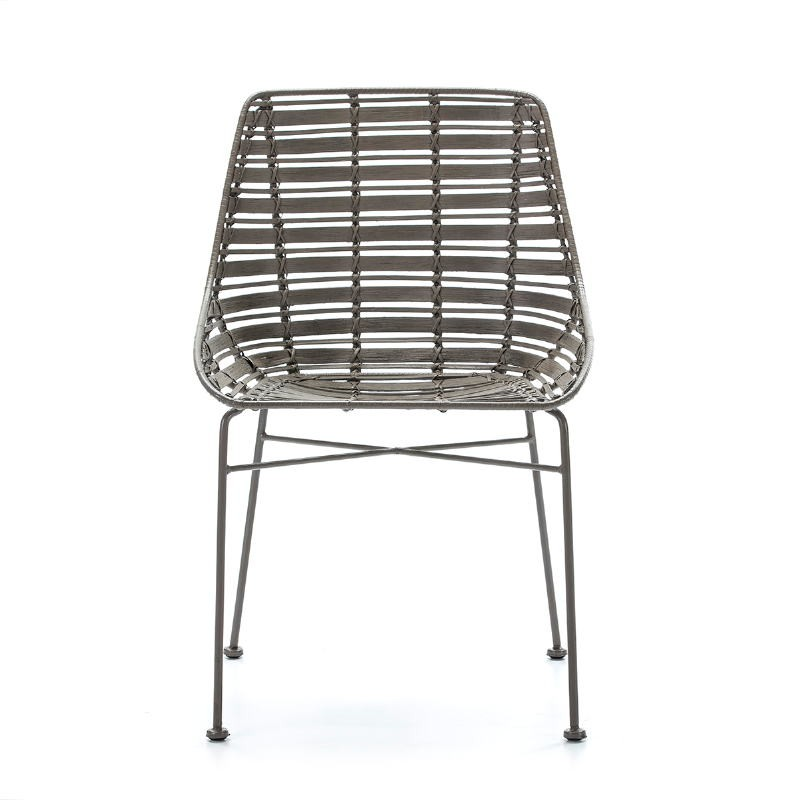 Chair 55X54X81 Metal Grey Wicker Grey - image 51910