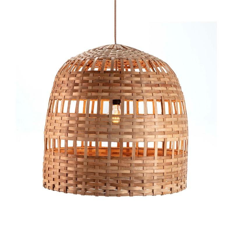 Lampe suspendue 60x60x60 Osier Naturel