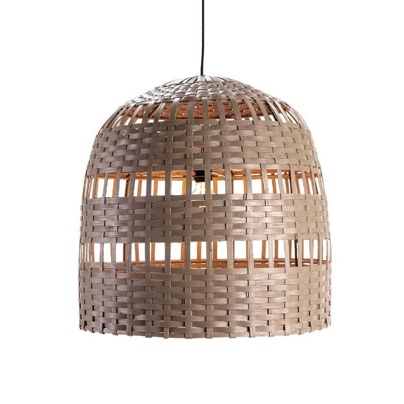 Lampe suspendue 60x60x60 Osier Gris