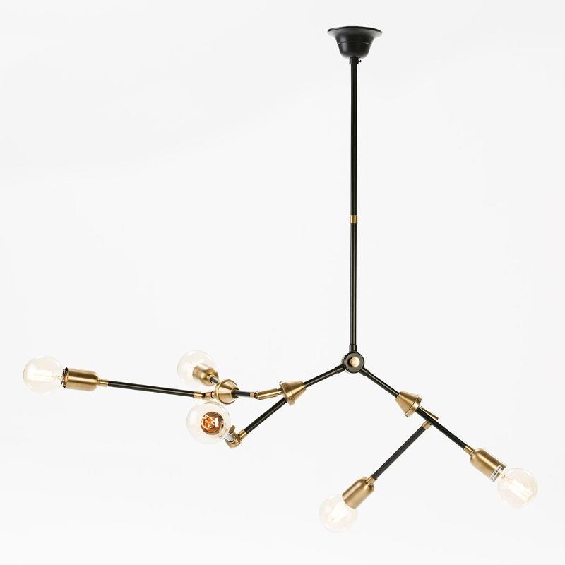 Hanging Lamp 100X6X101 Metal Golden Black - image 51952