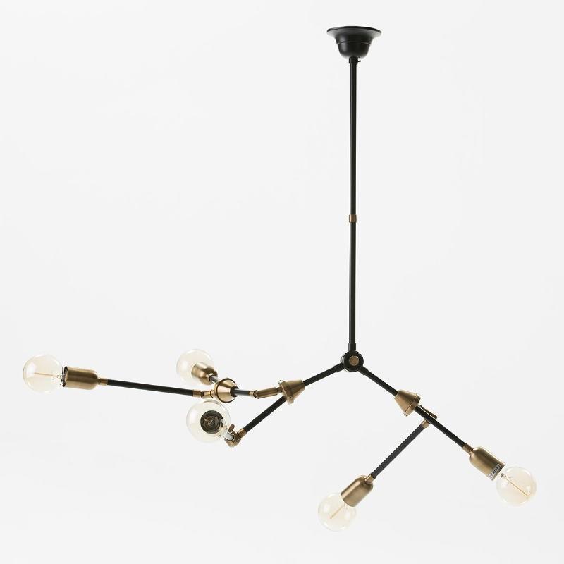 Hanging Lamp 100X6X101 Metal Golden Black - image 51956
