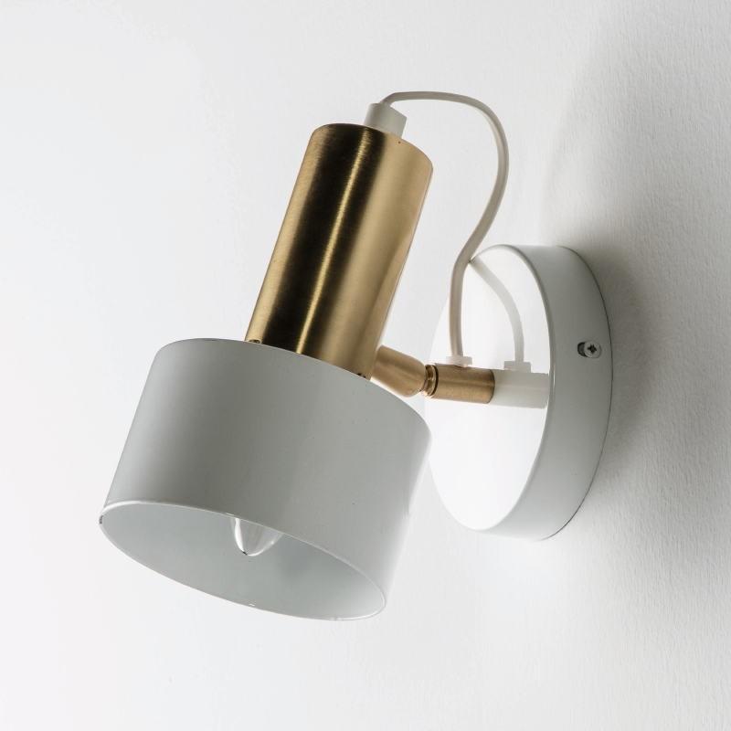 Wall Lamp 12X16X19 Metal White Golden - image 51962