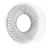 Specchio 50X8X50 Vetro Vimini Bianco