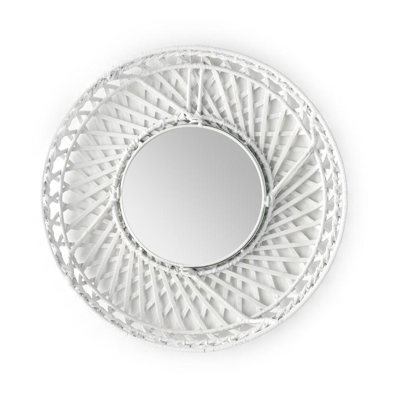 Specchio 50X8X50 Vetro Vimini Bianco - image 52024