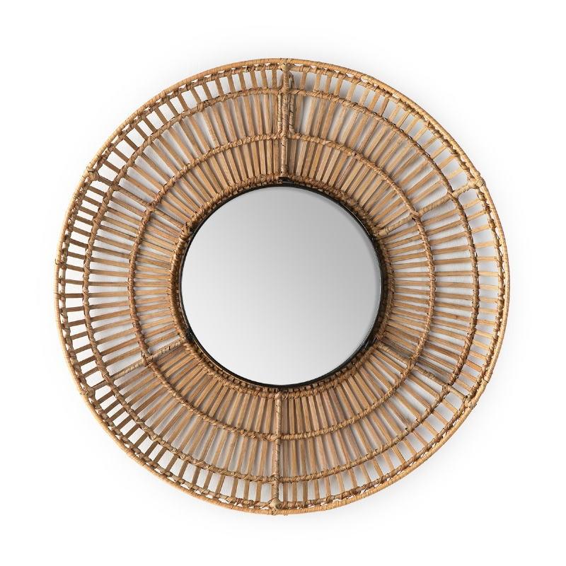 Specchio 70X8X70 Vetro Vimini Naturale - image 52027