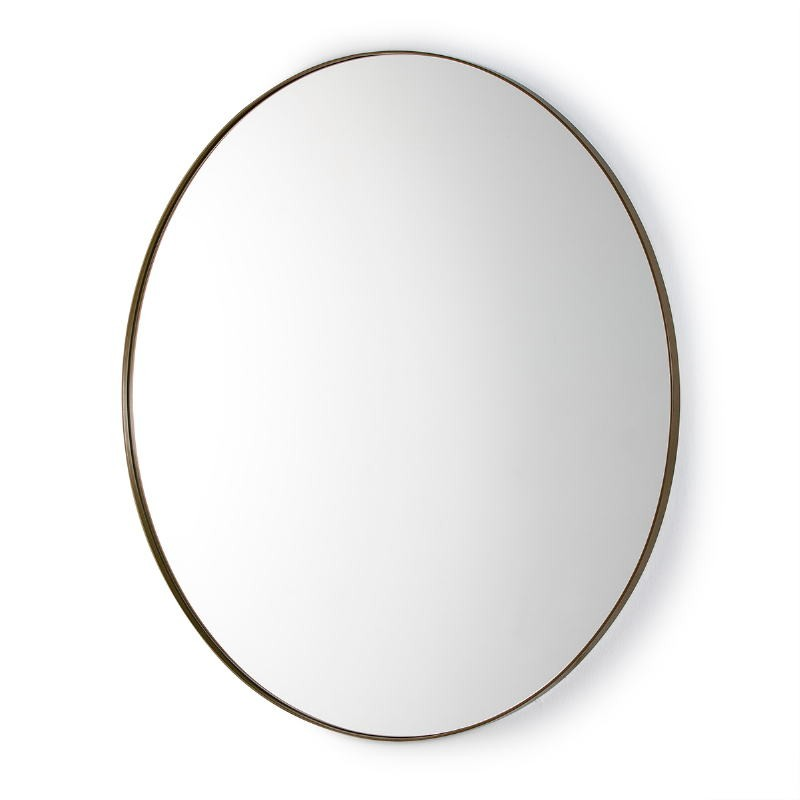 Miroir 120x3x120 Verre Métal Doré
