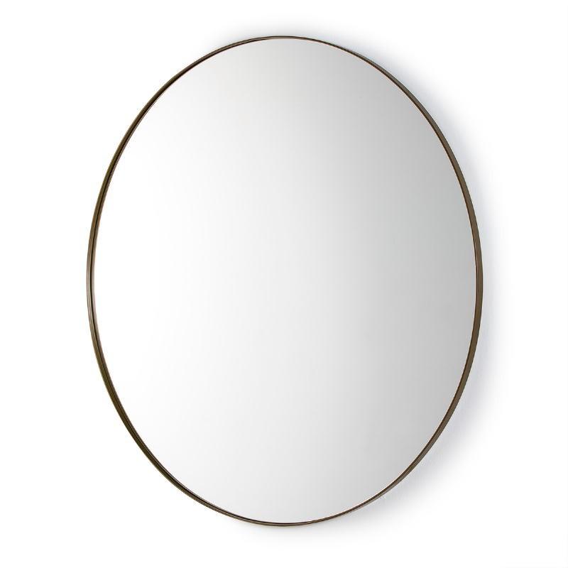 Specchio 120X3X120 Vetro Metallo Dorato