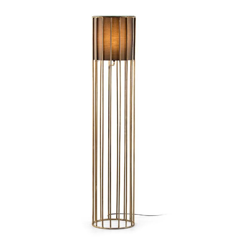Stehleuchte 30X30X145 Metall Golden Mit Display Braun