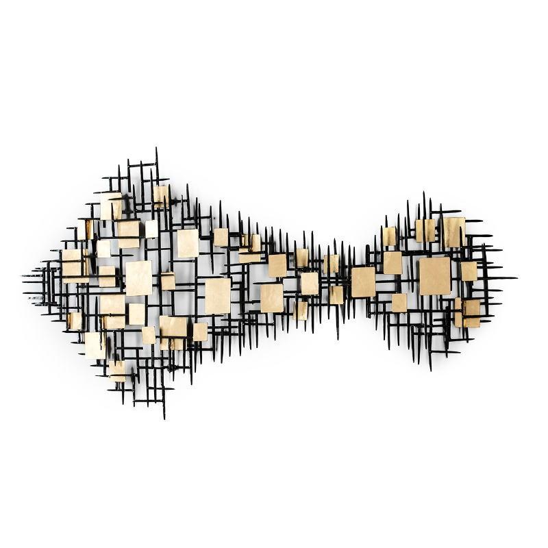 Skulptur 180X5X80 Metall Schwarz/Golden - image 52157