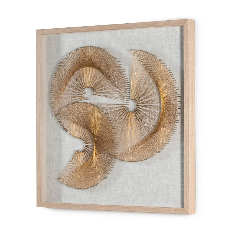 Bild 90X6X90 Glas/Holz Natürlich/Themen Golden