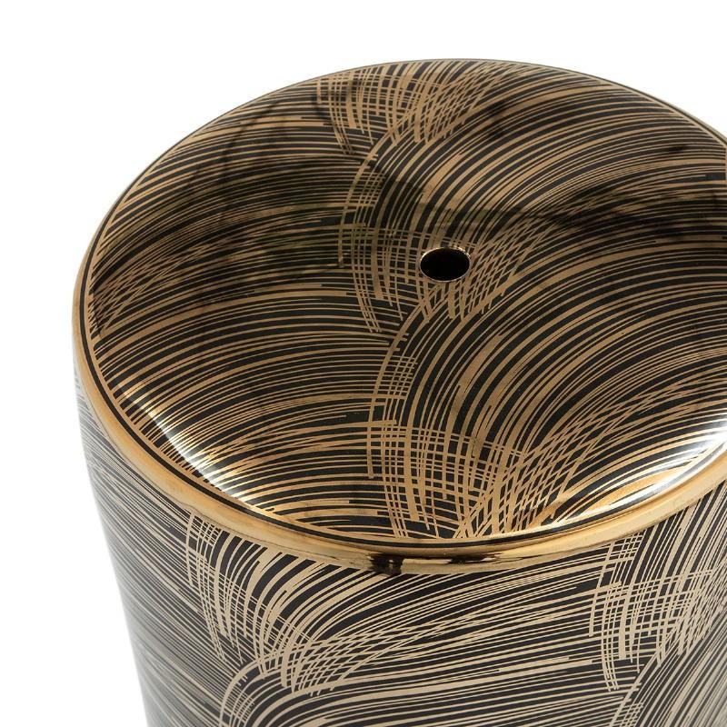 Sgabello 33X33X45 Ceramica Dorato Nero - image 52172