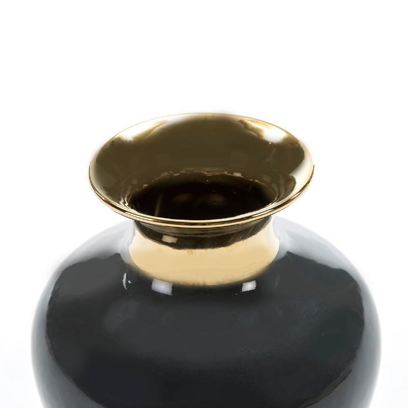 Blumenvase 20X20X28 Keramik Golden/Schwarz - image 52207