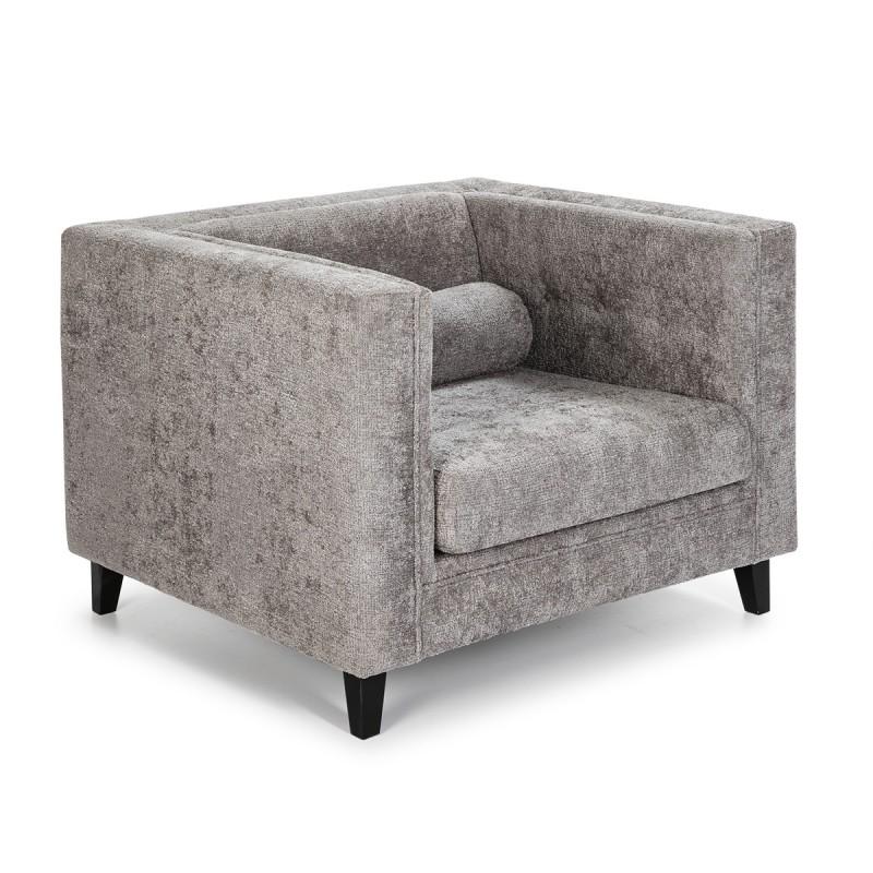 Sessel 1P 102X95X70 Stoff Grau