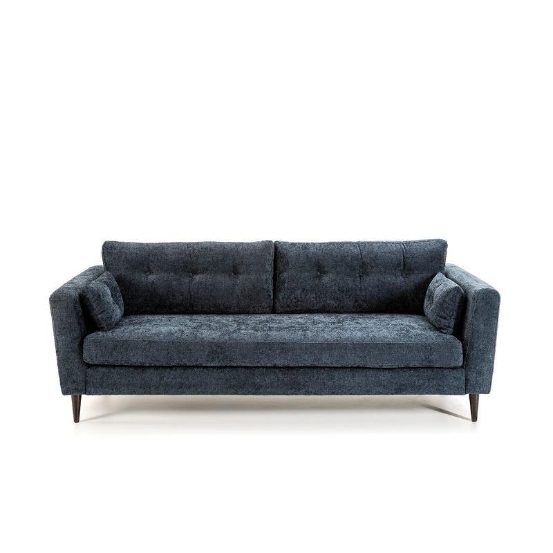 Canapé 3 places 216x90x85 cm tissu Bleu - image 52220