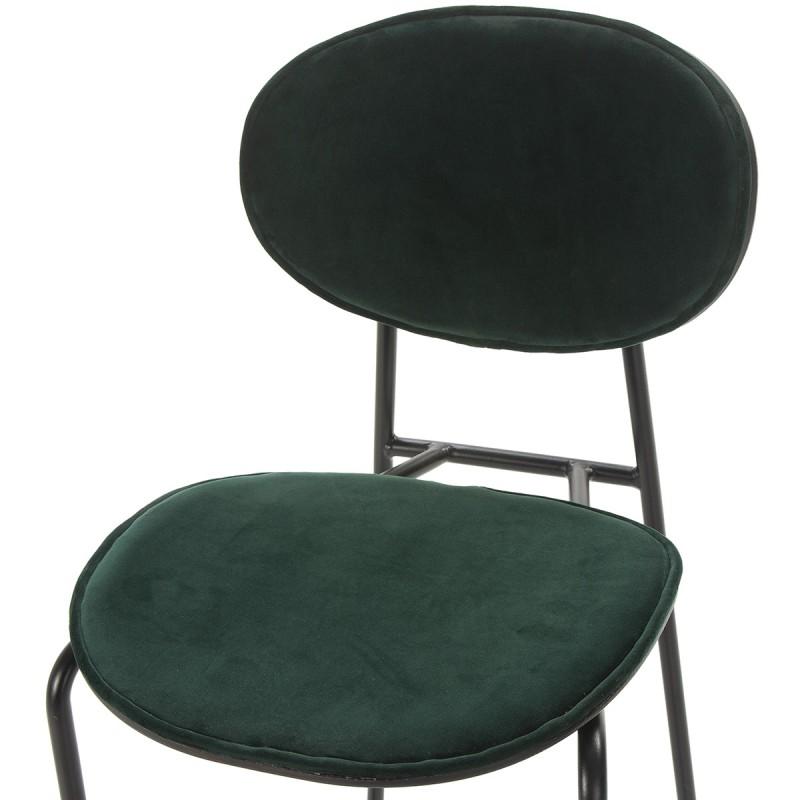 Chaise 42x51x78 cm Métal Noir ABS Noir Velours Vert - image 52238
