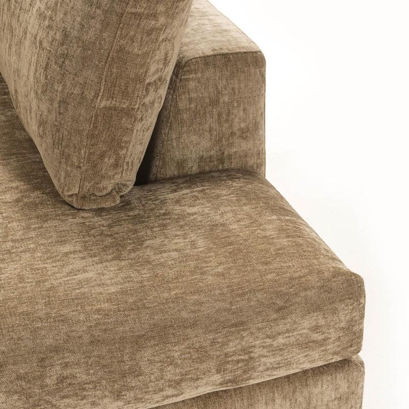 Canapé d'angle 3 places 300x210x90 cm tissu Brun - image 52261