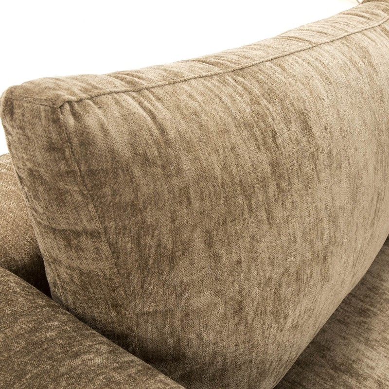 Canapé d'angle 3 places 300x210x90 cm tissu Brun - image 52262
