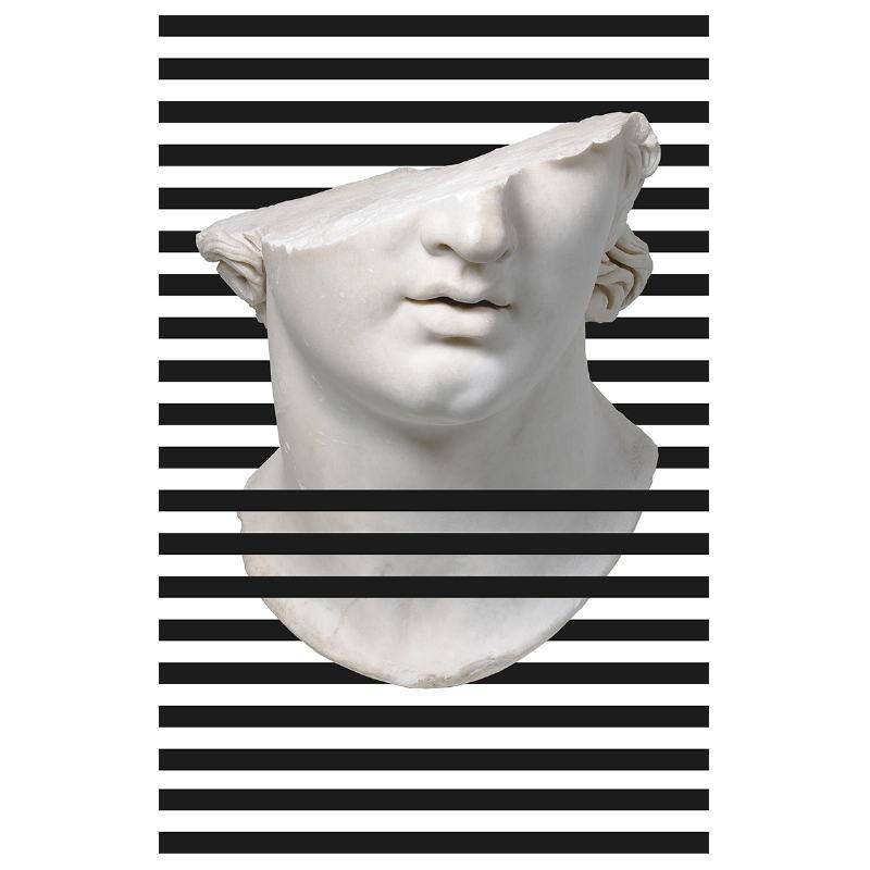 Bild 100X3X150 Methacrylat Weiß / Schwarz