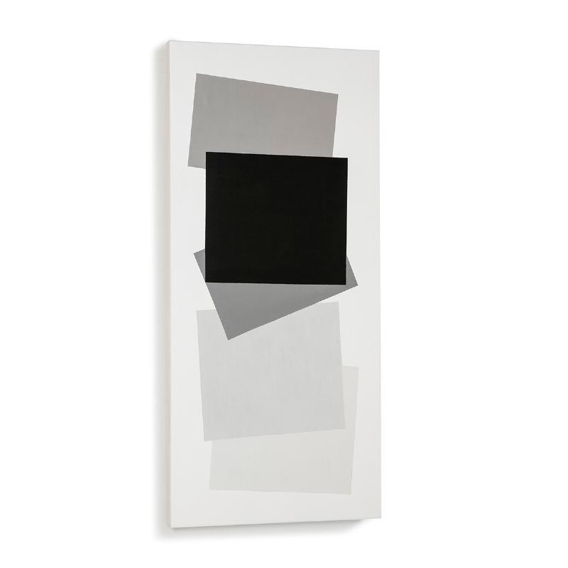 Toile 60x4x130 Blanc Noir Modèle 2 - image 52318