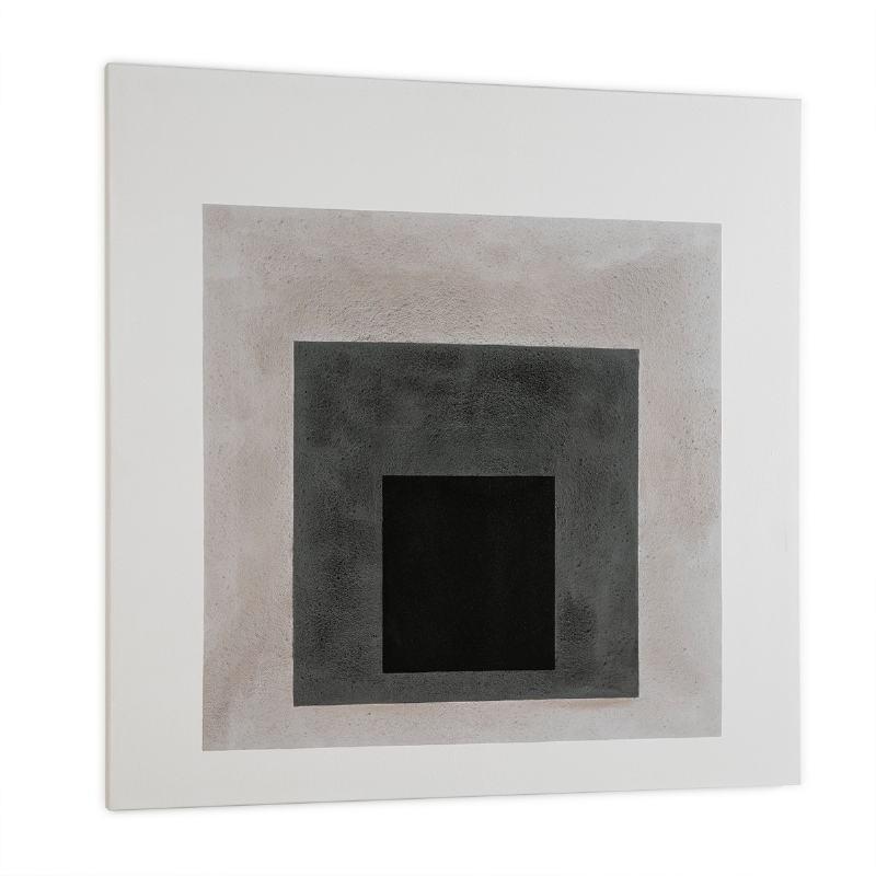 Toile 120x4x120 Blanc Noir