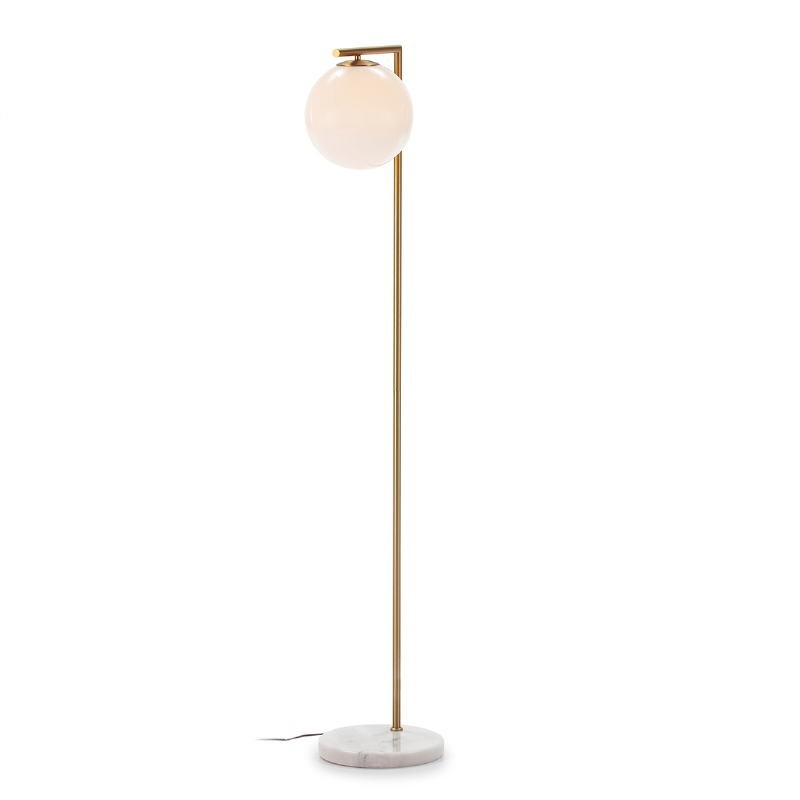 Lámpara De Pié 32X28X163 Cristal Blanco Mármol Blanco Metal Dorado - image 52384