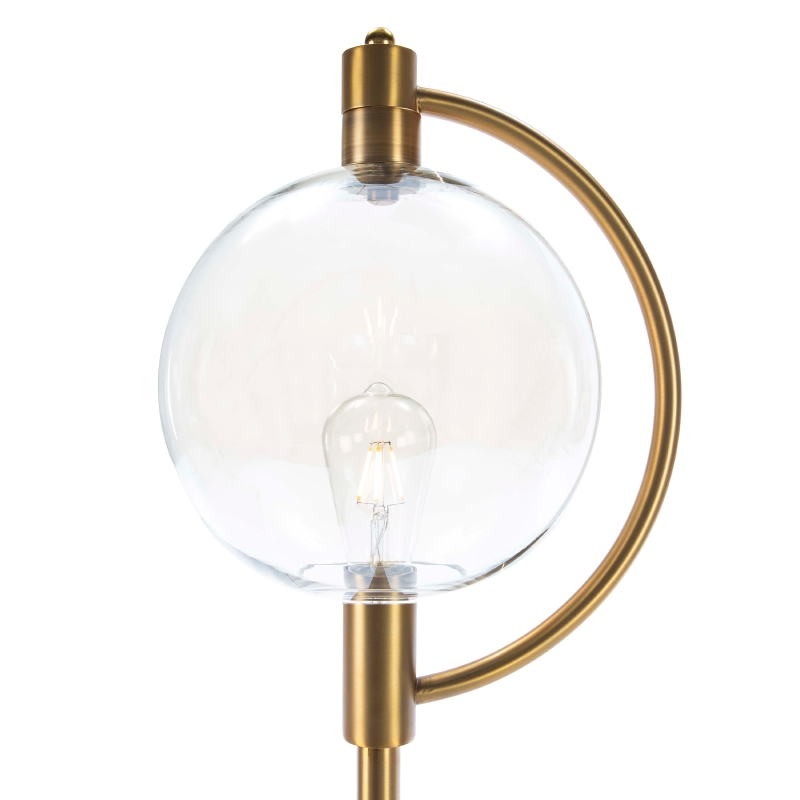 Lámpara De Pié 30X28X160 Cristal Ámbar Metal Dorado - image 52386