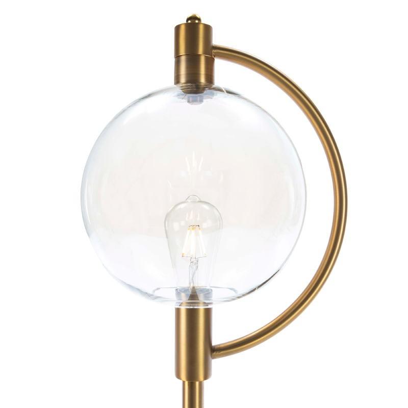 Standard Lamp 30X28X160 Glass Amber Metal Golden - image 52386