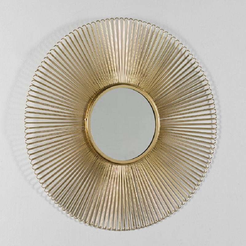 Miroir 81x2 Métal Doré - image 52427