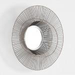 Specchio 58X10 Metallo Dorato