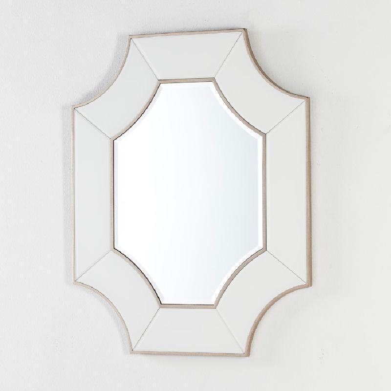Specchio 85X3X100 Vetro Trasparente Bianco