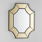Miroir 85x3x100 Verre Transparent Or
