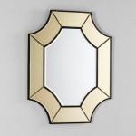Spiegel 85X3X100 Glas Transparent/Gold