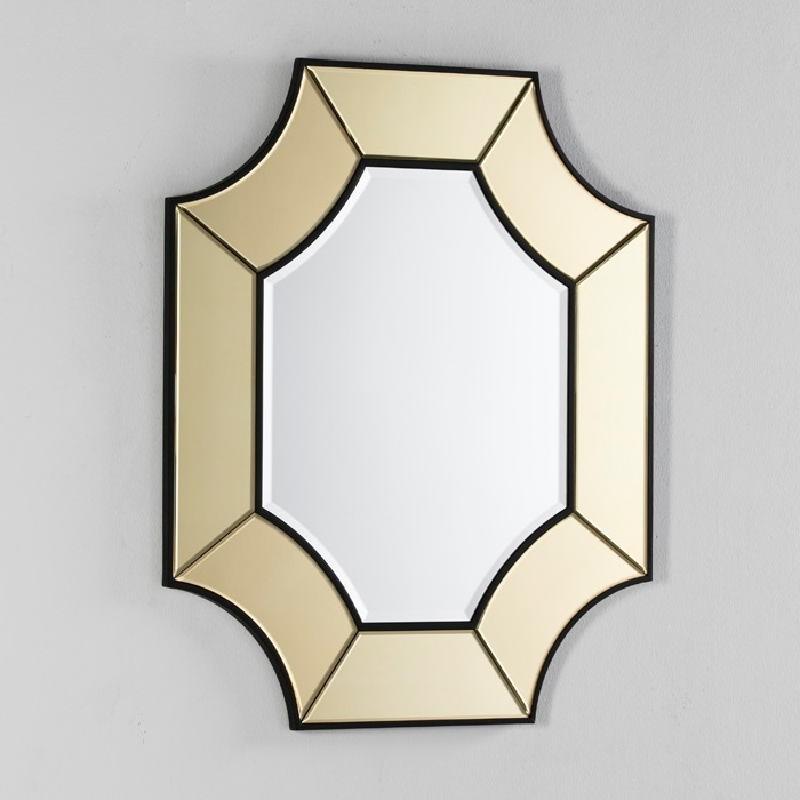 Spiegel 85X3X100 Glas Transparent/Gold - image 52440