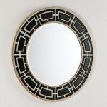 Specchio 110X2X110 Vetro Bianco E Nero