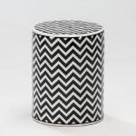 Sgabello 33X43 Ceramica Bianco Nero