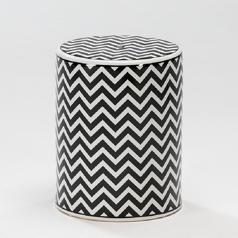 Sgabello 33X43 Ceramica Bianco Nero - image 52502