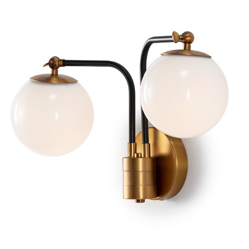 Wandlampen 50X18X29 Glas Weiß/Metall Golden - image 52531