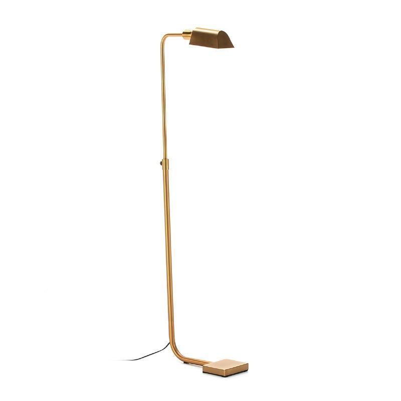 Lámpara De Pié 40X15X135 Metal Dorado