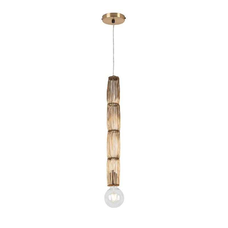 Lampe suspendue 6x6x55 Fil de fer Doré
