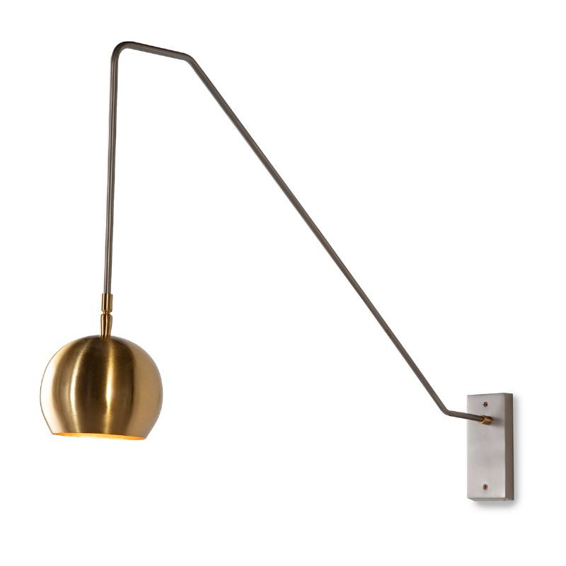 Wall Lamp 89X13X48 Metal Golden Grey - image 52562