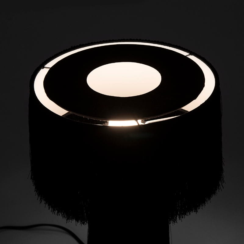 Table Lamp With Lampshade 25X25X38 Fabric Black - image 52581