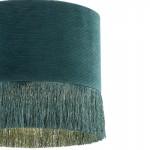 Lampada A Sospensione Con Paralume 35X35X32 Tessuto Verde