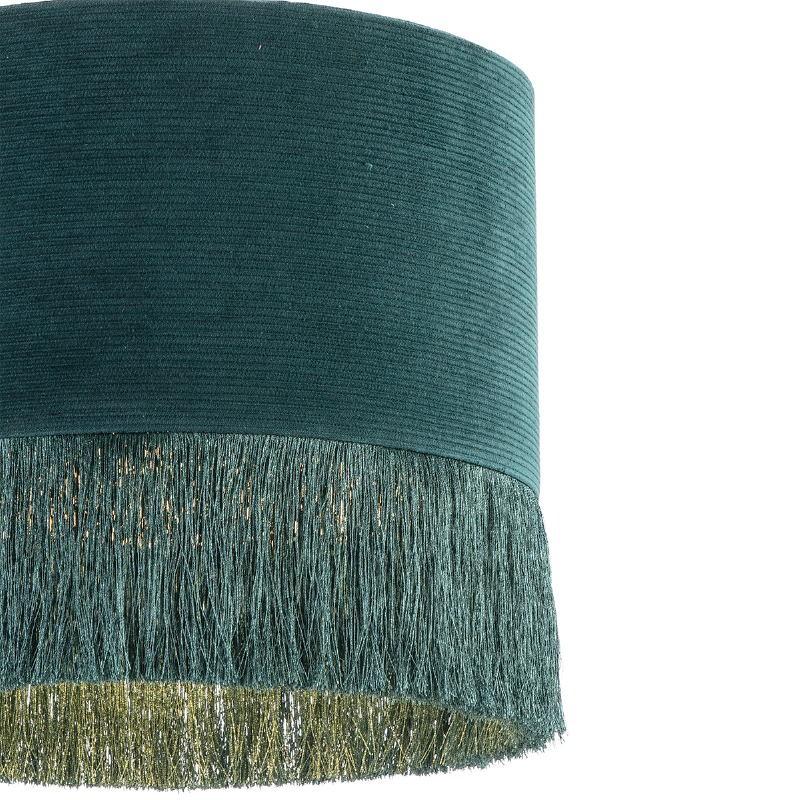 Lampe suspendue avec abat-jour 35x35x32 tissu Vert - image 52585