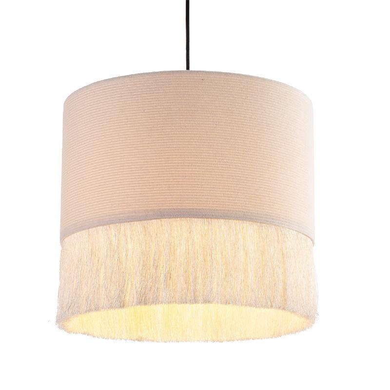 Lampe suspendue 35x35x32 tissu Blanc - image 52589