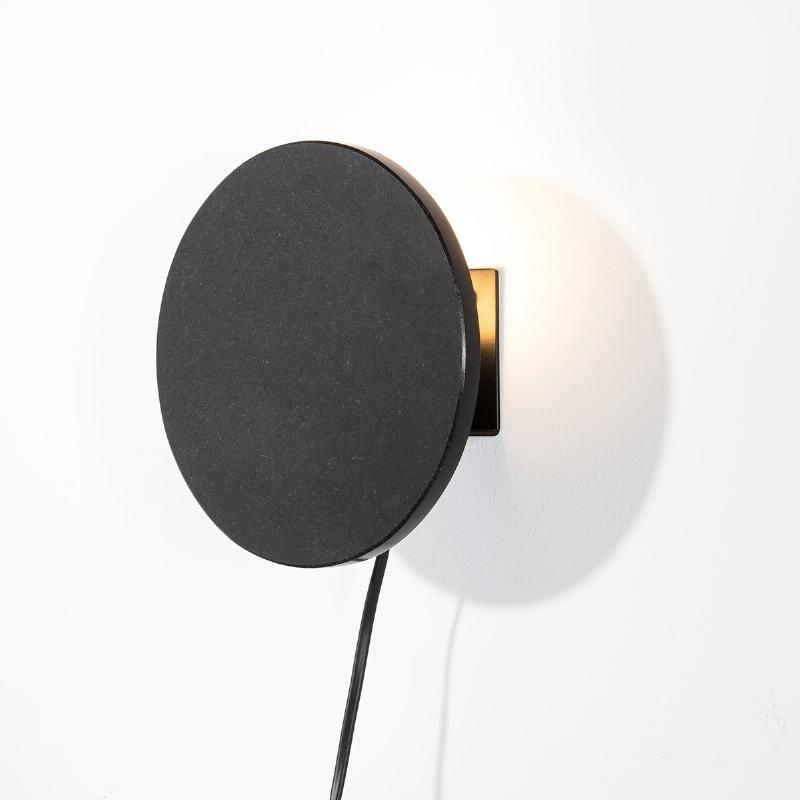 Wall Lamp 18X8X18 Granite Metal Black - image 52593