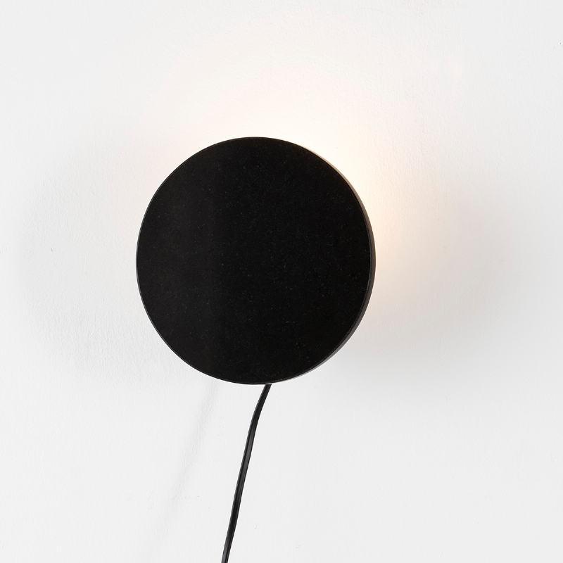 Wall Lamp 18X8X18 Granite Metal Black - image 52594
