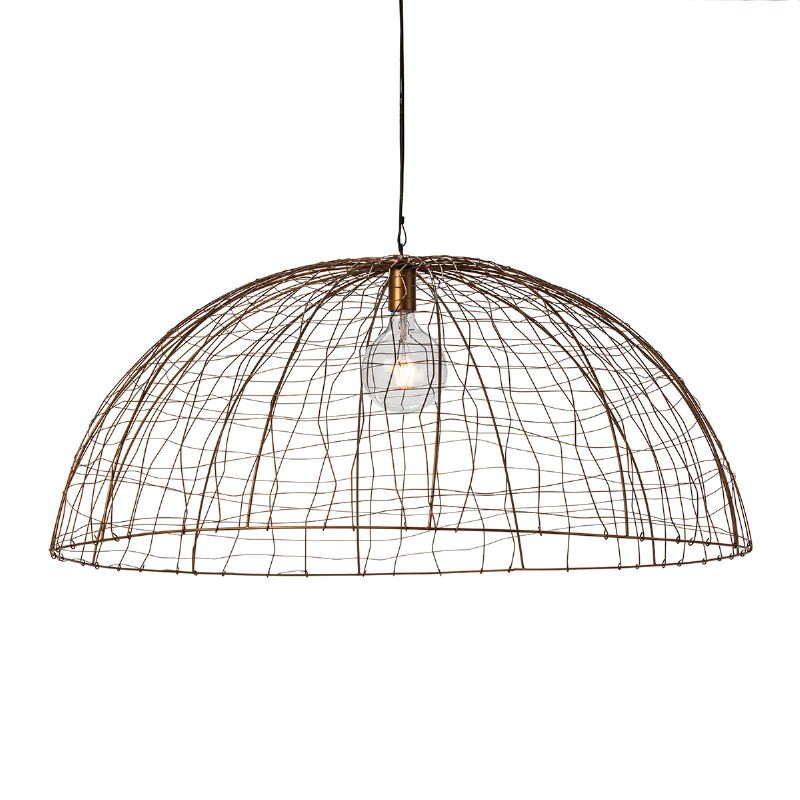 Hanging Lamp 100X100X40 Wire Golden - image 52607