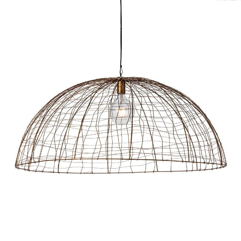 Lampe suspendue 100x100x40 Fil de fer Doré - image 52607